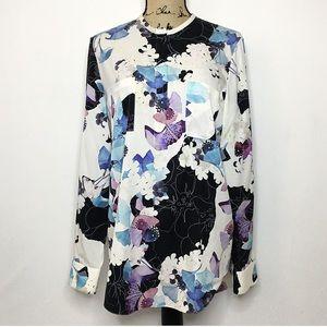 3.1 Phillip Lim Floral Watercolor Silk Blouse